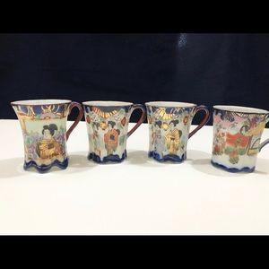 Vintage Kutani Japanese Eggshell China Tea Cup
